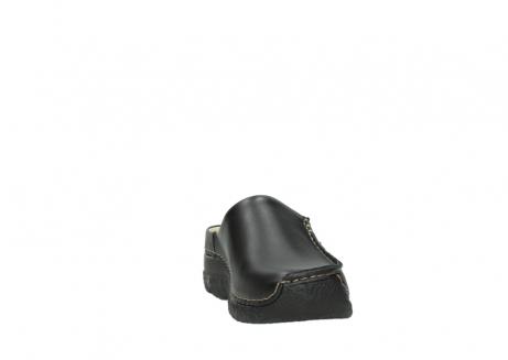 wolky clogs 6250 seamy slide 700 schwarz gedruckt leder_18