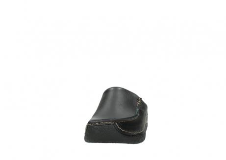 wolky clogs 6250 seamy slide 700 schwarz gedruckt leder_20
