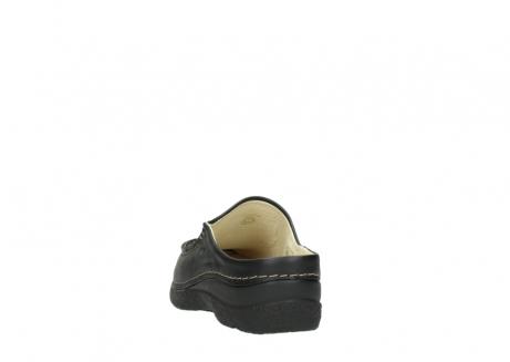 wolky clogs 6250 seamy slide 700 schwarz gedruckt leder_6