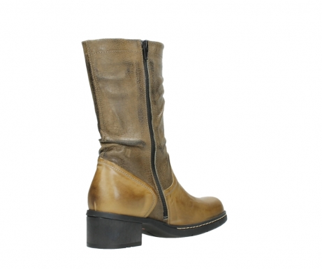 wolky mid calf boots 01261 edmonton 39920 ocher yellow leather_10
