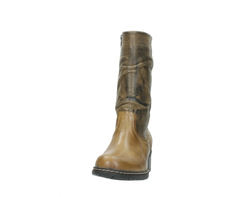 wolky mid calf boots 01261 edmonton 39920 ocher yellow leather_20
