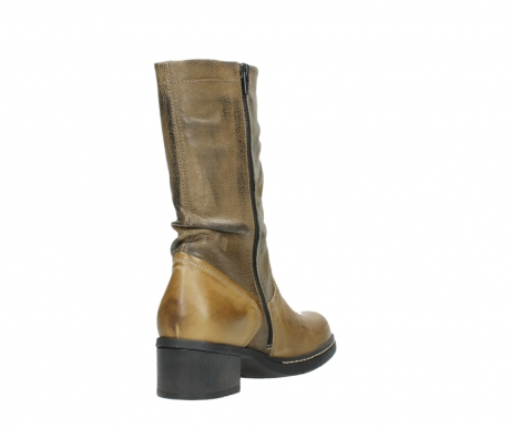 wolky mid calf boots 01261 edmonton 39920 ocher yellow leather_9