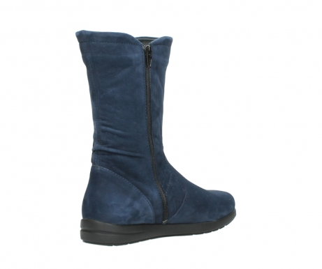 wolky mid calf boots 02424 newton 13800 blue nubuckleather_10