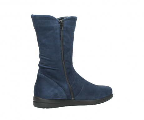 wolky mid calf boots 02424 newton 13800 blue nubuckleather_11