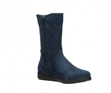 wolky mid calf boots 02424 newton 13800 blue nubuckleather_16