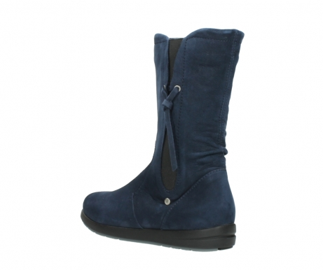 wolky mid calf boots 02424 newton 13800 blue nubuckleather_4