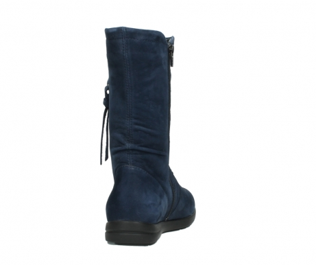 wolky mid calf boots 02424 newton 13800 blue nubuckleather_8