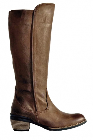 wolky long boots 04152 ponpon 30150 taupe leather