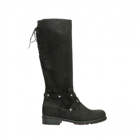wolky long boots 04433 belmore 45000 black suede