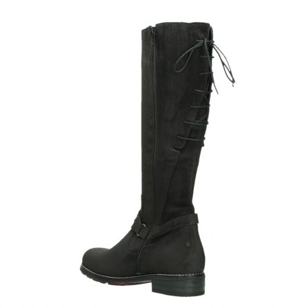 wolky long boots 04433 belmore 45000 black suede_16