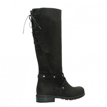 wolky long boots 04433 belmore 45000 black suede_23