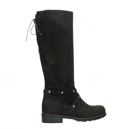 wolky long boots 04433 belmore 45000 black suede_24