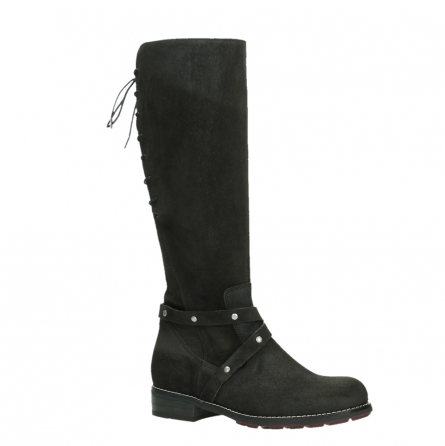wolky long boots 04433 belmore 45000 black suede_3