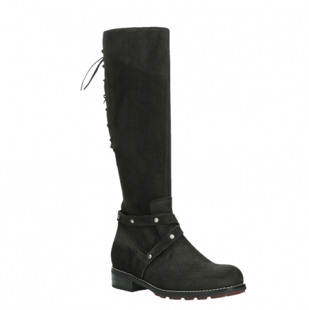 wolky long boots 04433 belmore 45000 black suede_4