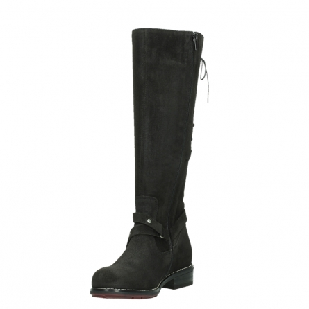 wolky long boots 04433 belmore 45000 black suede_9