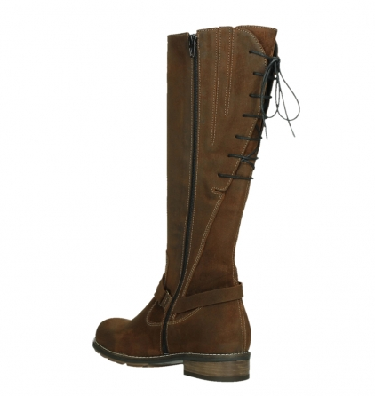 wolky long boots 04433 belmore 45410 tobacco suede_16