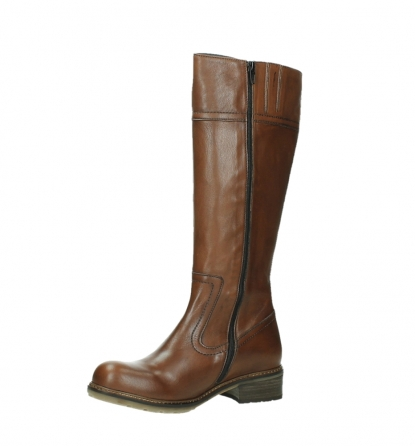 wolky long boots 04477 moher 32430 cognac leather_11