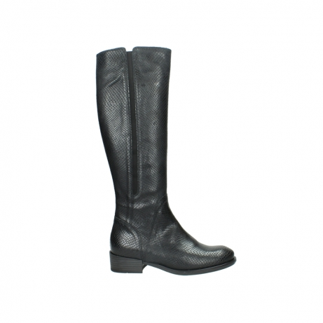 wolky high boots 04513 earl 30000 black snakeprint leather