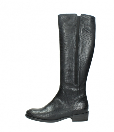wolky high boots 04513 earl 30000 black snakeprint leather_1