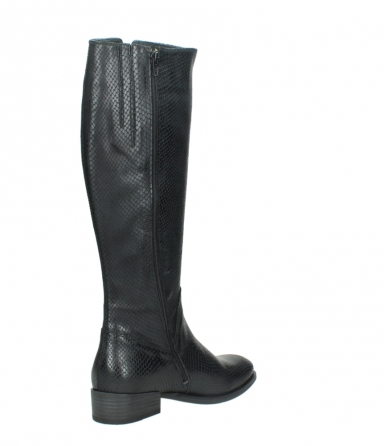 wolky high boots 04513 earl 30000 black snakeprint leather_10