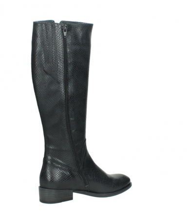wolky high boots 04513 earl 30000 black snakeprint leather_11
