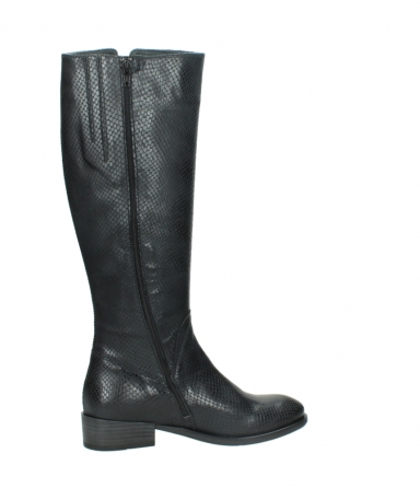wolky high boots 04513 earl 30000 black snakeprint leather_12