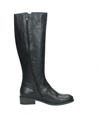 wolky high boots 04513 earl 30000 black snakeprint leather_13
