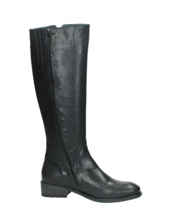 wolky high boots 04513 earl 30000 black snakeprint leather_14