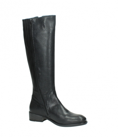 wolky high boots 04513 earl 30000 black snakeprint leather_15