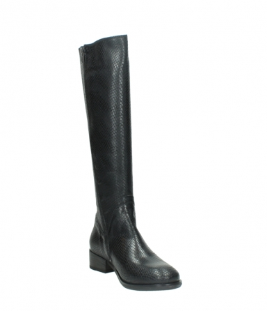 wolky high boots 04513 earl 30000 black snakeprint leather_17