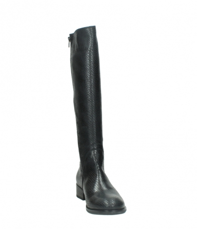 wolky high boots 04513 earl 30000 black snakeprint leather_18