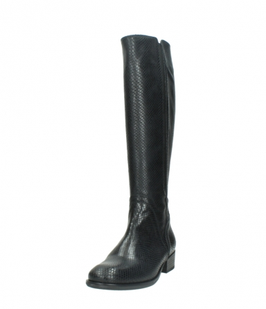 wolky high boots 04513 earl 30000 black snakeprint leather_21