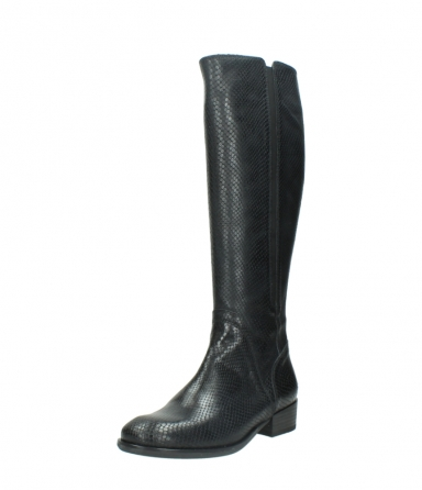 wolky high boots 04513 earl 30000 black snakeprint leather_22