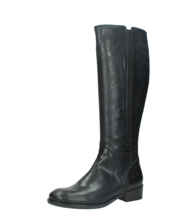 wolky high boots 04513 earl 30000 black snakeprint leather_23