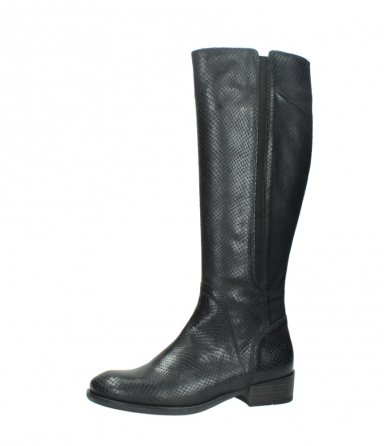 wolky high boots 04513 earl 30000 black snakeprint leather_24