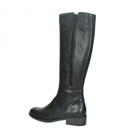 wolky high boots 04513 earl 30000 black snakeprint leather_3