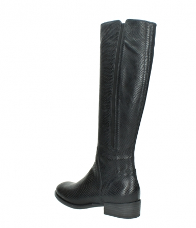wolky high boots 04513 earl 30000 black snakeprint leather_4