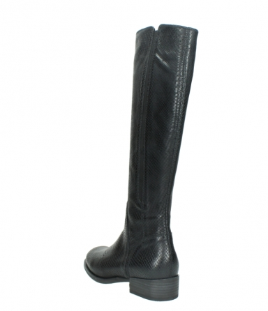 wolky high boots 04513 earl 30000 black snakeprint leather_5