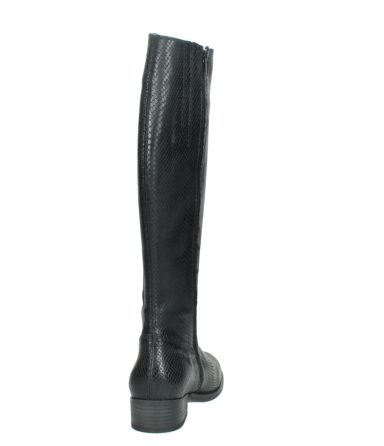 wolky high boots 04513 earl 30000 black snakeprint leather_8