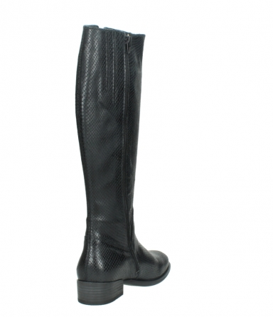 wolky high boots 04513 earl 30000 black snakeprint leather_9