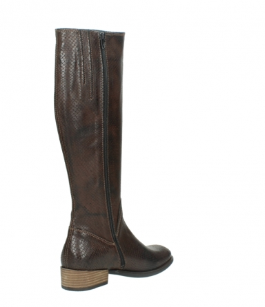 wolky long boots 04513 earl 30430 cognac snakeprint leather_10