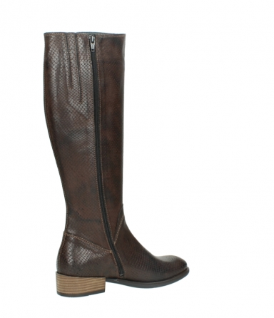 wolky high boots 04513 earl 30430 cognac snakeprint leather_11