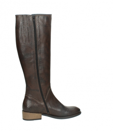 wolky long boots 04513 earl 30430 cognac snakeprint leather_12