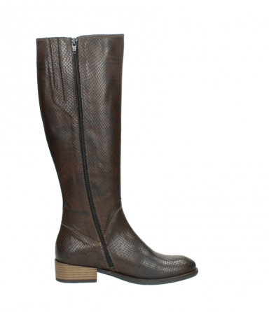 wolky high boots 04513 earl 30430 cognac snakeprint leather_13