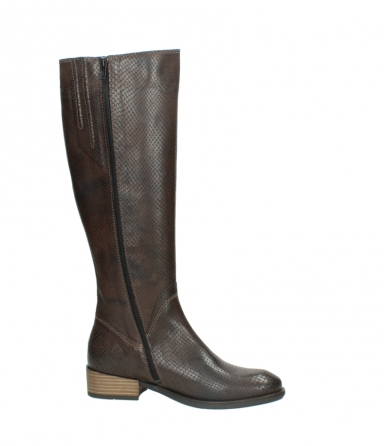 wolky long boots 04513 earl 30430 cognac snakeprint leather_14