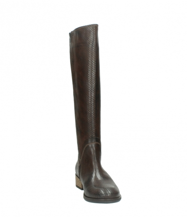 wolky long boots 04513 earl 30430 cognac snakeprint leather_18