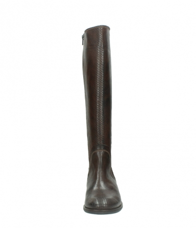 wolky long boots 04513 earl 30430 cognac snakeprint leather_19