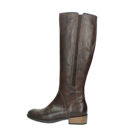 wolky long boots 04513 earl 30430 cognac snakeprint leather_2