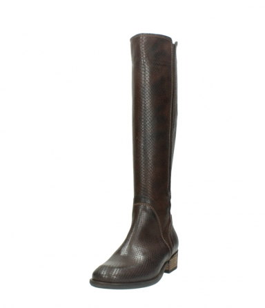 wolky long boots 04513 earl 30430 cognac snakeprint leather_21