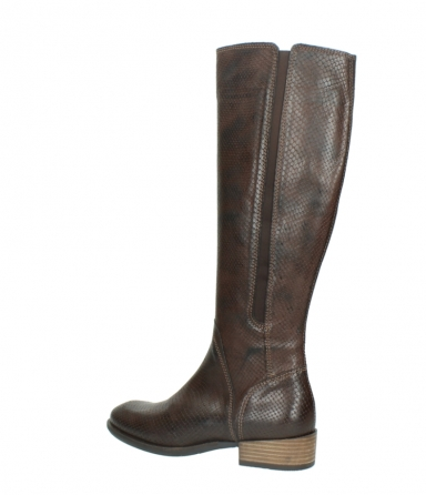 wolky high boots 04513 earl 30430 cognac snakeprint leather_3